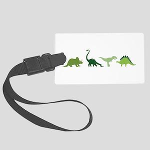 Dino Border Luggage Tag