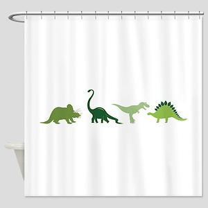 Dino Border Shower Curtain