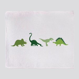 Dino Border Throw Blanket