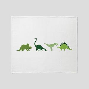 Dino Border Throw Blanket