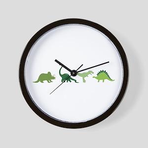 Dino Border Wall Clock