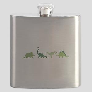 Dino Border Flask
