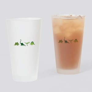 Dino Border Drinking Glass