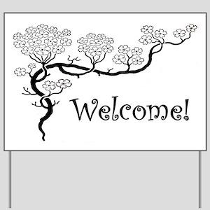 """Dogwood"" Welcome Yard Sign"
