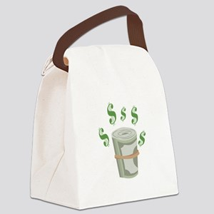 Money Roll Canvas Lunch Bag