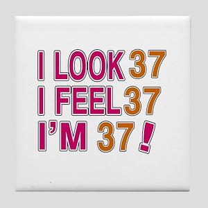I Look 37 Tile Coaster