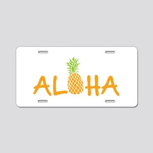 Aloha Pineapple Aluminum License Plate