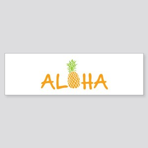 Aloha Pineapple Bumper Sticker