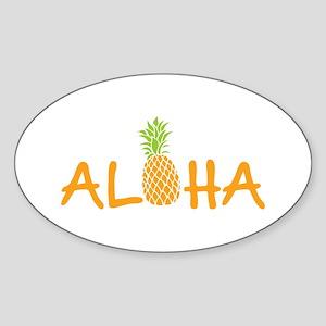 Aloha Pineapple Sticker