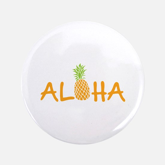 Aloha Pineapple Button