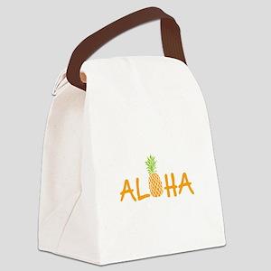 Aloha Pineapple Canvas Lunch Bag