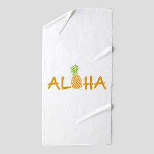 Aloha Pineapple Beach Towel