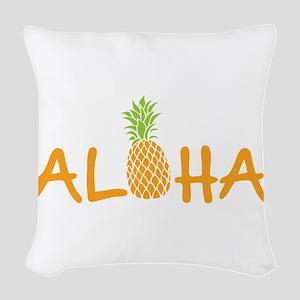 Aloha Pineapple Woven Throw Pillow