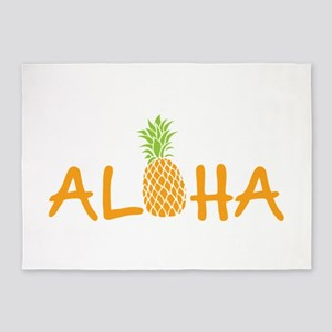 Aloha Pineapple 5'x7'Area Rug