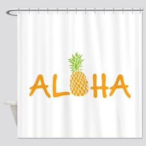 Aloha Pineapple Shower Curtain