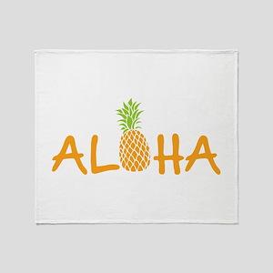 Aloha Pineapple Throw Blanket