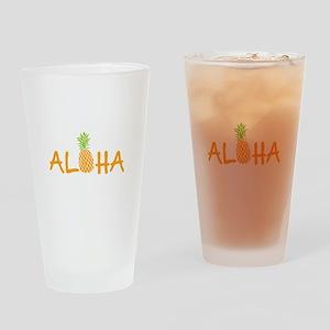 Aloha Pineapple Drinking Glass