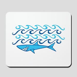 Shark Waves Mousepad