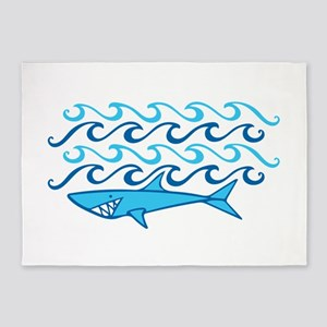 Shark Waves 5'x7'Area Rug