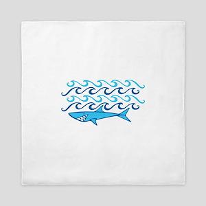 Shark Waves Queen Duvet