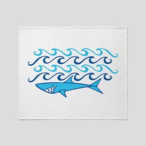 Shark Waves Throw Blanket