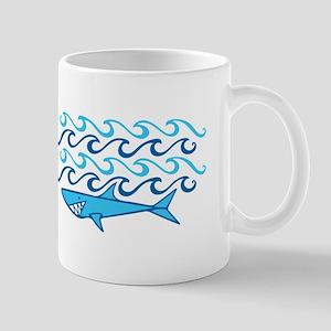 Shark Waves Mugs