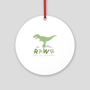 Dinosaur Rawr Round Ornament