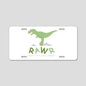 Dinosaur Rawr Aluminum License Plate