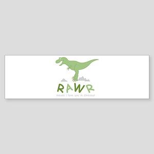 Dinosaur Rawr Bumper Sticker