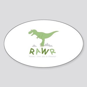 Dinosaur Rawr Sticker