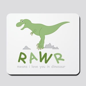 Dinosaur Rawr Mousepad