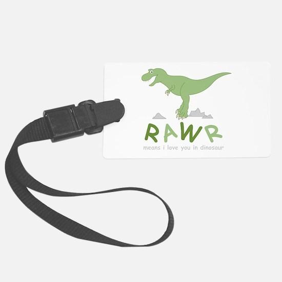 Dinosaur Rawr Luggage Tag