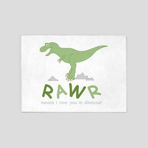 Dinosaur Rawr 5'x7'Area Rug