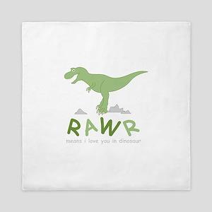 Dinosaur Rawr Queen Duvet