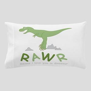 Dinosaur Rawr Pillow Case