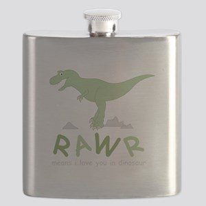 Dinosaur Rawr Flask