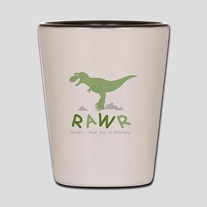 Dinosaur Rawr Shot Glass