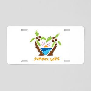Summer Love Aluminum License Plate