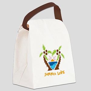 Summer Love Canvas Lunch Bag