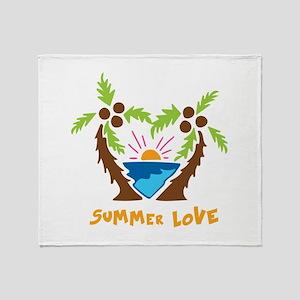 Summer Love Throw Blanket