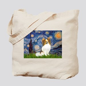 Starry Night Papillon (f) Tote Bag