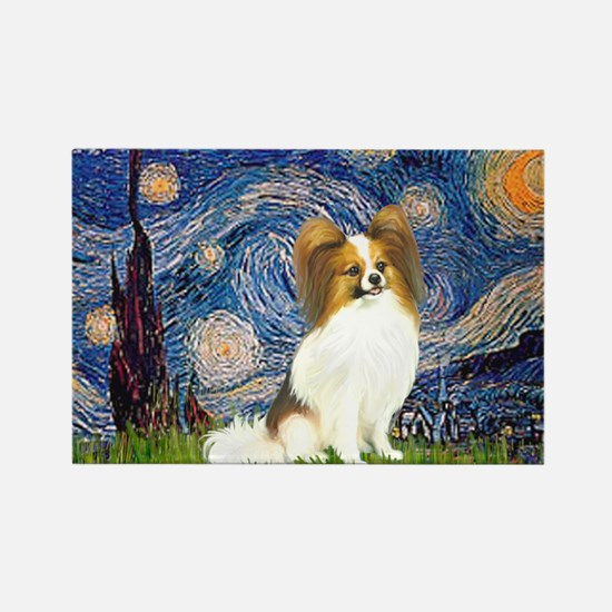 Starry Night Papillon (f) Rectangle Magnet (10 pac
