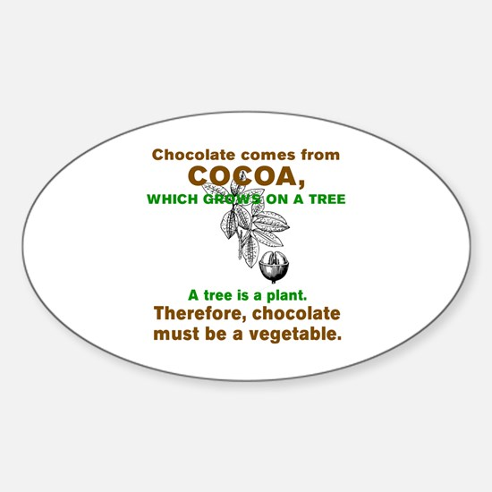 Funny Chocolate Sticker (Oval)