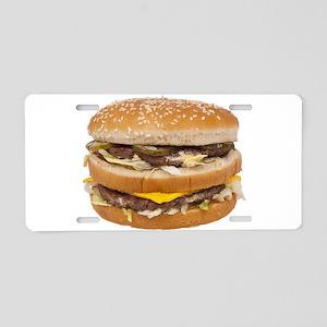 Double Cheeseburger Aluminum License Plate