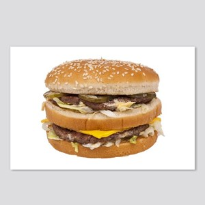 Double Cheeseburger Postcards (Package of 8)