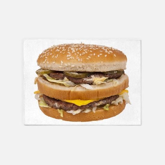 Double Cheeseburger 5'x7'Area Rug