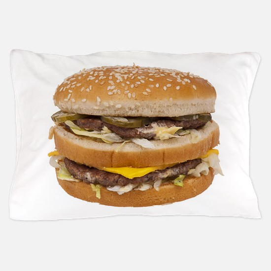Double Cheeseburger Pillow Case