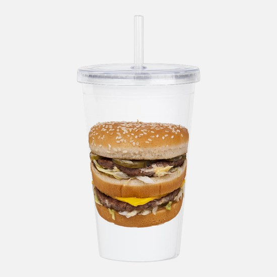 Double Cheeseburger Acrylic Double-wall Tumbler