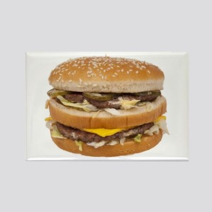 Double Cheeseburger Rectangle Magnet