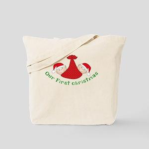 First Christmas TWINS Tote Bag